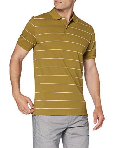 GANT Herren D1. Narrow Stripe SS Pique Polohemd, Olive Green, XX-Large