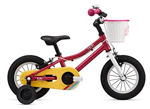 Giant meisjesfiets 12 inch Adore F/W 12 van aluminium met wieltjes fiets magenta