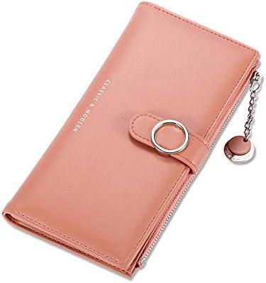 Slim Fashion Long Wallet RFID Blocking Wallet Leather Clutch Phone Bag Lady Purse Handbag Zipper product image