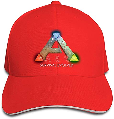 Gsdgjgg Unisex Hats Funny Casquette ARK Survival Evolved Logo Black,Red,One Size