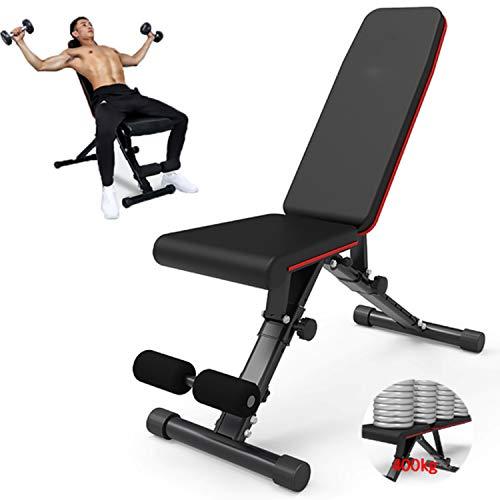 YI'HUI Faltbare Verstellbare Hantel Gewichtheben Sit Up Bauchbank, Hantelbänke Für Ganzkörpertraining, Faltbare Bauchmuskeltraining Schrägbank