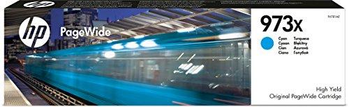 HP 973X Blau Original Druckerpatrone mit hoher Reichweite für HP PageWide