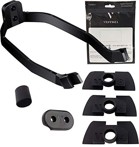 Amortiguador de Vibración de Goma con Soporte de Guardabarros para Xiaomi M365 y Pro - Piezas Sólidas de Modificación - Piezas de repuesto para E-scooter (amortiguador + soporte de guardabarros)