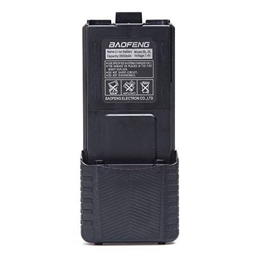 Baofeng BL-5 3800mAh Extended Battery for Baofeng Walkie Talkie UV-5R BF-8HP UV-5RX3 RD-5R UV-5RTP UV-5R MK2 MK3X MK5 Plus UV-5RE Series Two Way Radio (1Pack 3800mAh Battery)