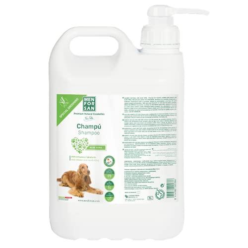 Menforsan Natural Soothing Regenerating Aloe Vera Dog Shampoo 5L