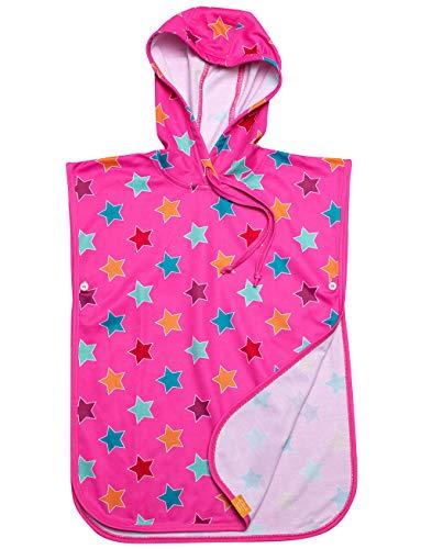 UV 50 Kinder Poncho Stars pink (128-146)