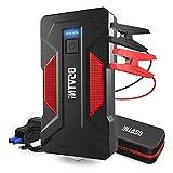 OSVTNI Avviatore di Emergenza 2000A 16000mAh Avviatore Batteria Auto/Moto (Fino a 7.0L Gas e 6.5L Diesel) Portatile Jump Starter Equipaggia Il Martello di Vita e la Torcia a LED, Porta USB QC 3.0