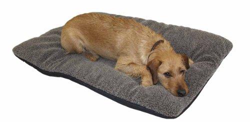 AKAH Hundebett Decke Faserpelz braun mit Thermofüllung XXL 100x120 cm
