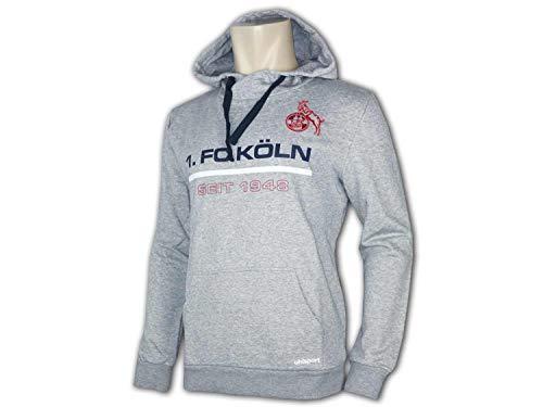 uhlsport 1.FC Köln Sportswear Hoody 19/20 Herren grau, Bekleidungsgröße:XL
