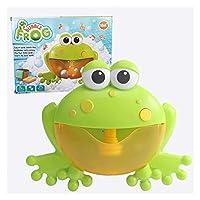 屋外の泡機のカニ&カエル音楽子供バスのおもちゃバスタブ石鹸の自動バブルメーカー赤ちゃんの浴室のおもちゃ (色 : Frog With box)