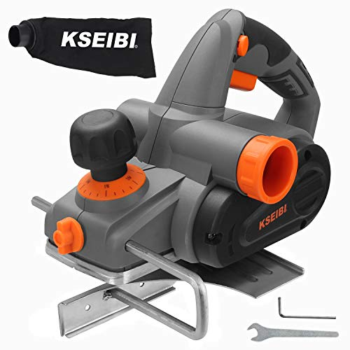 KSEIBI 6-Amp 3-1/4-Inch Electric Wood Planer 16500RPM, with 5/64 inch Adjustable Cut Depth, KHO 71-82