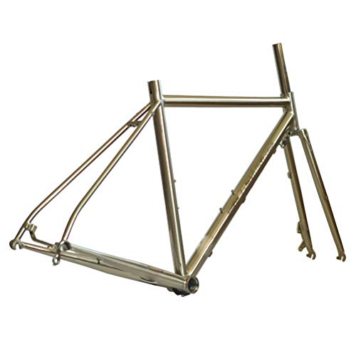 Chrom Rennrad Rahmen 700C Classic Scheibenbremse Wärmebehandlung Stahlrahmen Gabeln,430mm