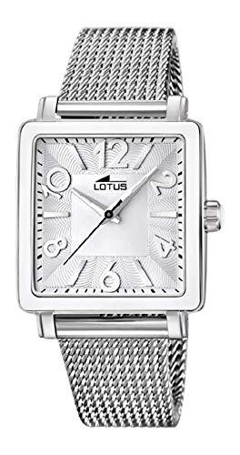 Lotus Reloj Mujer Acero Esfera Blanca, Cuadrada - Ref 15741/A