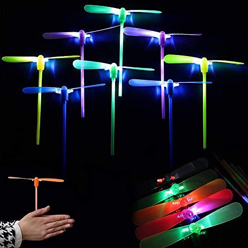 BESTZY 25 Piezas plástico de bambú de la libélula, Hélice de bambú de la Moda de libélula, Juguete al Aire Libre, Regalo de los niños, Juguetes de Libélula de Bambú