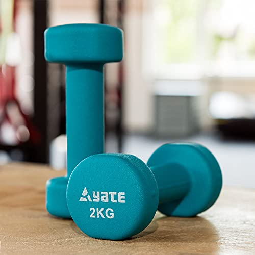 Yate Paar Neopren Fitness Hanteln 0,5kg - 4kg Gymnastikhanteln Kurzhanteln (2kg grün)