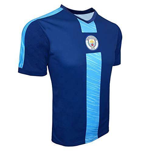 Icon Sports Manchester City Poly Jersey, Adult and Kids (X-Large) Blue