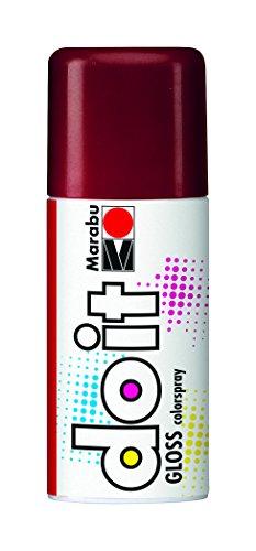 Marabu 21072006433 - Do it Gloss glanz rot, Colorspray auf Acrylbasis, hochglänzend, sehr schnell trocknend, wetterfest, lichtecht, hochbrillante, 150 ml Sprühdose