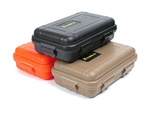 ZENDY Boite à outils, boîte de kit de survie étanche et antichoc pour la pêche camping randonnée en plein air outils de survie couleurs assorties (Pack3) (Pack3-M)