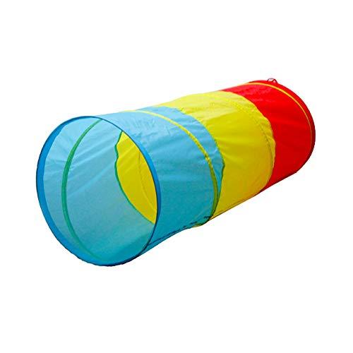 Lzww Tunel Plegable para Niños Pop Up Túnel del Juego del Tubo para Niños Interiores y Exteriores Juegos, 120 * 48cm