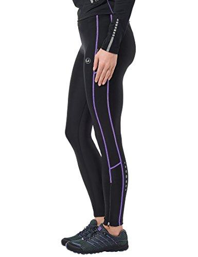 Ultrasport Advanced Damen Sporthose, Laufhose lang, Fitnesshose mit Kompressionswirkung, Quick Dry, Kontrast-/Flachnähte, Reflective Prints, justierbarer Bund und Schlüsseltsche mit Reißverschluss - 3