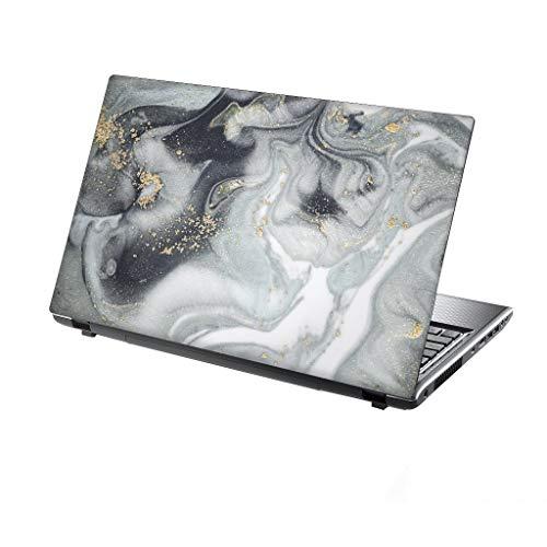 TaylorHe Folie Sticker Skin Vinyl Aufkleber mit bunten Mustern für 13-14 Zoll (34cm x 23,5cm) Laptop Skin Marmor, fließendes Wasser
