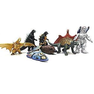 scheda mingze 8 pezzi godzilla king of monsters toy set, dinosauri bambola modello mini dinosauri realistici per bambini e film fans decoration