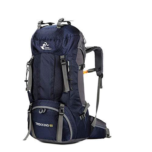 free knight 60L Wasserdichter Rucksack, ultraleichter, packbarer Kletterfischer Reiserucksack Tagesrucksack, handliche Faltbare Camping Outdoor-Rucksack-Tasche mit Regenschutz (Marine blau)
