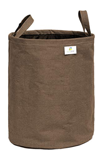 HomeStrap Canvas Round Foldable 43 Ltrs Laundry Bag with Handle – Brown