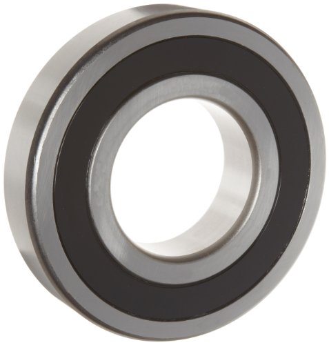 WJB 6307-2RS Deep Groove Ball Bearing, Double Sealed, Metric, 35mm ID, 80mm OD, 21mm Width, 7500lbf Dynamic Load Capacity, 4300lbf Static Load Capacity
