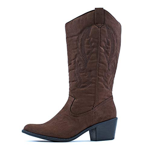 West Blvd - Womens Miami Cowboy Western Boots brown Size: 6 UK