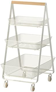 RISATORP Kitchen Trolley, white
