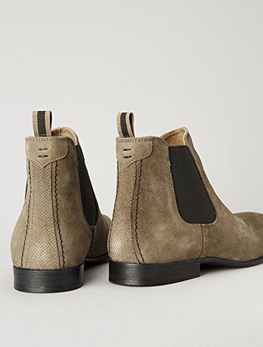 FIND Herren Chelsea Boots Rauleder, Braun (Stone) - 5