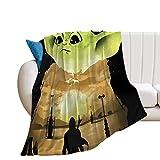 Manta de dormitorio Mandalorian Art Baby Yoda 100 x 80 cm