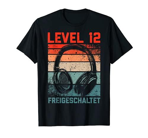 12. Geburtstag Jungen Video Gamer Level 12 Unlocked Kids T-Shirt