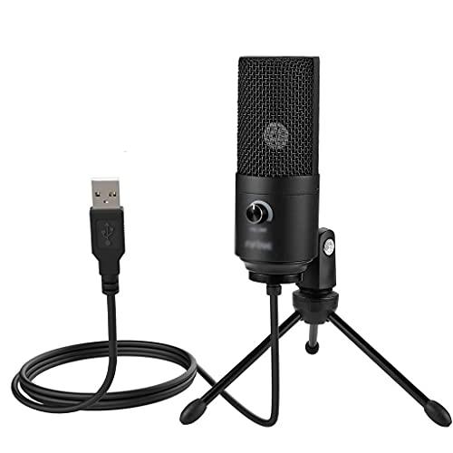 Metal de la Quinta USB Micrófono de grabación de Condensador para computadora portátil Windows Cardioid Studio grabación de Voz Voz sobre (Color : B)