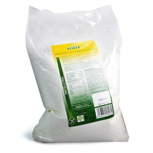 Beiker Preparado Panificable sin Gluten - 1000 gr