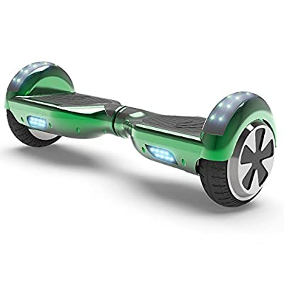 Hoverboard Two-Wheel Self Balancing Electric Scooter UL 2272 Certified, Metallic Wheel Chrome Color with Wireless Speaker and LED Light