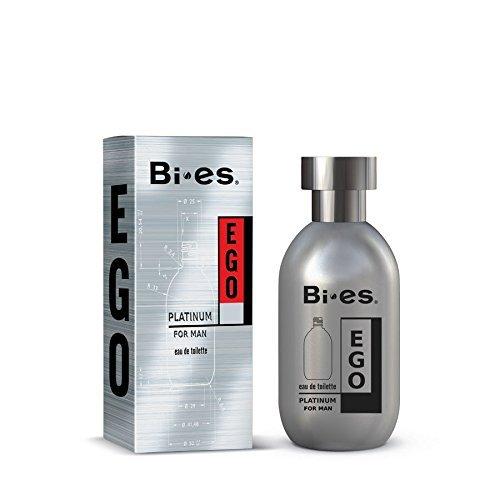 bi-es Ego Platinum Eau de Toilette Spray para hombres 100ml