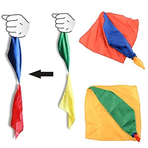 4 Stücke Ändern Farbe Silk Zaubertrick Witz Requisiten Werkzeuge Magier Liefert Spielzeug Tuch zaubern