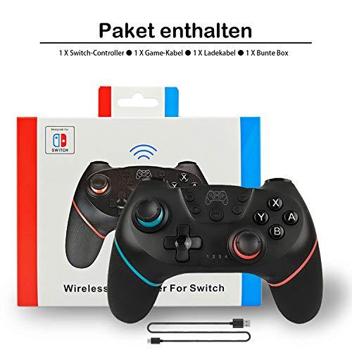 AlBetter Kabelloser Pro Controller für Nintendo Switch, Bluetooth Gamepad Remote Joypad Joystick mit Turbo Dual Shock Gyro Achse