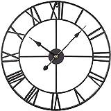 reloj de pared Numerales relojes de pared silencioso hierro forjado hueco engranaje de mute reloj de pared casero sala de estar dormitorio oficina escuela reloj Decoraciones para el hogar