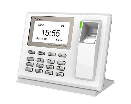 Anviz D200Erhebung Zeiterfassung mit Fingerscanner und Code Pin, Mini USB Modell, Weiß