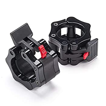 EMFK! Olympic Barbell Clamps Quick Release Non-Slip Barbell Collars Clips for 2-Inch Pro Olympic Weight Bar Plate Lockdown Weight Clamps for Workout Weightlifting Fitness Training