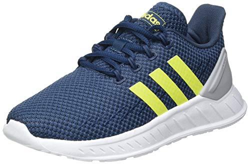 adidas Questar Flow NXT Sneaker, Crew Navy/Acid Yellow/Halo Silver, 37 1/3 EU