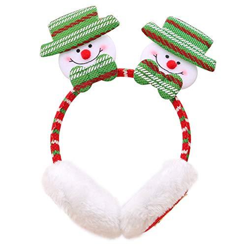 Hzb821zhup Winter Kerstmis Hoofdband Santa Elk Sneeuwman Patroon Haarband Hoofdband Oordopjes Oor Cover Haarspeldjes Warm Geschenken Kerstmis Rood Grote Antler Hoofdband