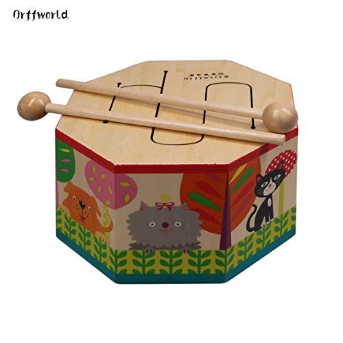 Rouku Orff World Cartoon Instrumento Montessori de Tambor de