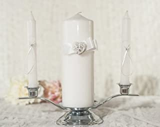 Unity large scented unique heart candle