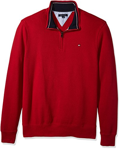 Tommy Hilfiger Men's Big and Tall 1/4 Zip Pullover Sweater, Scooter, TL-4XL