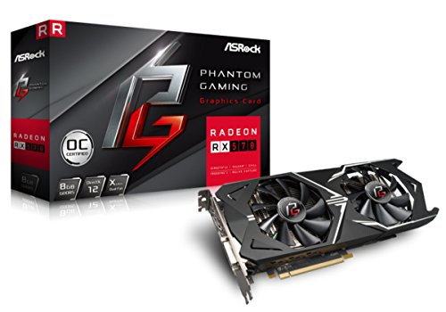 ASRrock Phantom Gaming X Radeon RX570 8G OC Grafikkarte, schwarz