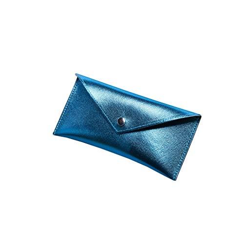 Kosmetikbox Gläser Tasche Portable Storage Bag Anti-Stress-Sonnenbrille Tasche Schutzhülle Myopie Brillenetui (Color : Blue)